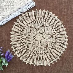 45CM Round Pineapple Floral crochet Doily pattern wedding centerpieces