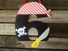 Pirate Party Paper Sign- Under the Sea Party Decorations, Beach Party, Birthday…