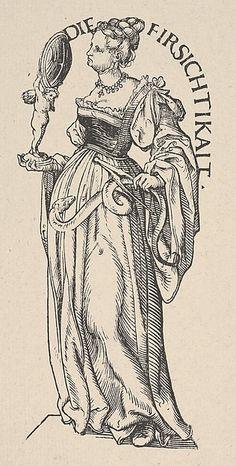 Prudence (Die Firsichtikait), from The Seven Virtues, in Holzschnitte alter Meister gedruckt von den Originalstöcken der Sammlung Derschau im besitz des Staatlichen Kupferstich-kabinetts zu Berlin