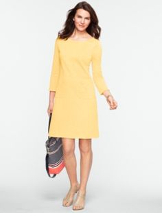 Talbots - Slub-Knit Cotton Tee Dress | New Arrivals | Misses Discover your new look at Talbots. Shop our Slub-Knit Cotton Tee Dress for stylish clothing and accessories with a modern twist at Talbots