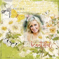It's a Beautiful Life beautiful botanical scrapbook page by Jana #designerdigitals