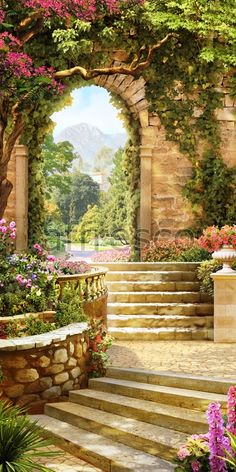 Gardens Discover Wall Murals Painted Landscape Ideas For 2019 Beautiful Paintings Beautiful Landscapes Beautiful Gardens Mural Art Wall Murals Wall Art Landscape Art Landscape Paintings Terre Nature Beautiful Paintings, Beautiful Landscapes, Beautiful Gardens, Landscape Art, Landscape Paintings, Terre Nature, Beautiful Places, Beautiful Pictures, Image Nature