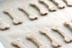 Simple & quick two ingredient dog treats - Crap - these would be SO easy to make.  You still have that dog-bone cookie cutter?  Could use any tho!