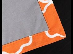 How to Sew a Mitered Corner - YouTube