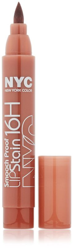 New York Color Smooch Proof Lip Stain, Never Ending Nude, Fluid Ounce : Nyc Lip Stain : Beauty Nyc Lip Stain, Liquid Lipstick, Lip Makeup, Water Bottle, Nude, York, Color, Image Link