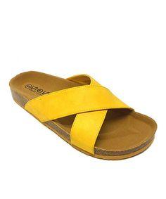 Look at this #zulilyfind! Yellow Slide Sandal #zulilyfinds
