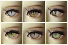 OMeta Half Round Acrylic Eyes BJD Acrylic cat ooak  12mm CE-03