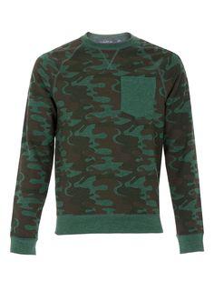 green camo sweatshirt #topman
