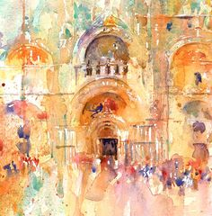 The Magic of Watercolour Painting' virtual art gallery by Jean Haines, Artist - browse and buy watercolor paintings online including landscapes, portraits, animals and action galleries Watercolor Pictures, Watercolor Artists, Watercolour Painting, Painting & Drawing, Watercolours, Art And Illustration, Watercolor Architecture, Watercolor Landscape, Blog Art