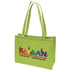 The Custom Branded Martha Non-Woven Tote Bag hasstitched seams, side and bottom gussets, and reinforced sewn handles.
