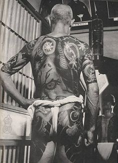 Fundoshi is a Japanese loincloth. It's ancient, simple, practical, and sensual. Learn how to wear & enjoy fundoshi culture! Asian Tattoos, Back Tattoos, Tattoos For Guys, Yakuza Style Tattoo, Irezumi Tattoos, Fundoshi, Different Tattoos, Tattoo Inspiration, Character Design