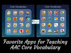 {Appy AAC Awareness Month}: Favorite Apps for Teaching AAC Core Vocabulary Im always looking for fun and motivating ways to target core vocabulary for my patients that are AAC users. Speech Language Therapy, Speech And Language, Speech Therapy, Speech Pathology, Vocabulary Activities, Language Activities, Vocabulary Building, Speech Activities, Teaching Vocabulary