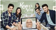 Kapoor And Sons Movie's new poster released. http://www.bollywoodnentertainment.com/2016/02/kapoor-and-sons-movies-new-poster.html