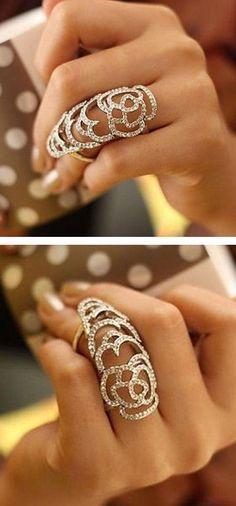 Rose Knuckle Ring ღ