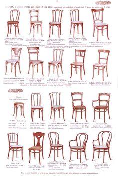 #Epok#Thonet # page des chaises du catalogue Thonet 1914