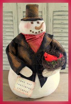Mr Snowfellow -Primitive Snowman PATTERN CF 893