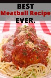 best meatball recipe ever