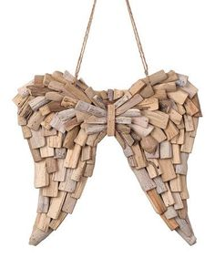 Natural wood and jute channel offer a rustic lilt to this seasonally-inspired pick. Coastal Christmas Decor, Christmas Crafts, Christmas Decorations, Christmas Ornaments, Angel Wings Decor, Coastal Master Bedroom, Bright Homes, Beach Crafts, Christian Art