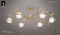 The Dali Semi Ceiling Light has a polished brass finish Semi Flush Lighting, Semi Flush Ceiling Lights, Ceiling Lamp, Pearl Earrings, Drop Earrings, Light Fittings, Messing, Polished Brass, Elegant