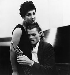 Chet Baker and his wife Halima.