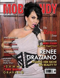 "Renee Graziano, start of ""Mob Wives"" on the cover of ""Mob Candy"""