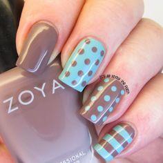 NOTD - Zoya Normani and Catrice Minter Wonderland polka dot skittle