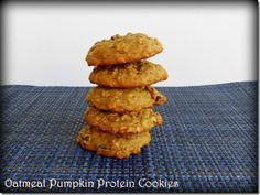 the perfect healthy treat! Protein Cookies, Protein Foods, Oatmeal Cookies, Healthy Treats, Healthy Eating, Healthy Recipes, Protein Recipes, Healthy Foods, Healthy Life