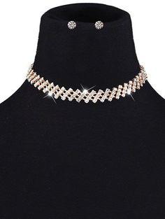 Fashion Trendy Womens Rhinestone Choker Set,Cheap Trendy on Sale!