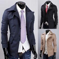 navy blue Cotton Blends Coat $ 17.10