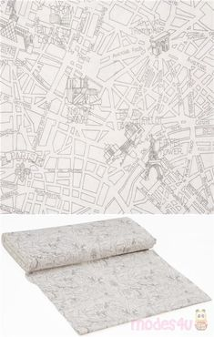 white cotton fabric with cool map artwork drawn by hand with landmarks of Paris, very high quality fabric, typical great Timeless Treasures quality, Material: 100% cotton #Cotton #FamousPlaces #Landmarks #USAFabrics