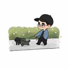 Exo Cartoon, Exo Anime, Exo Fan Art, Exo Do, Do Kyung Soo, Kyungsoo, Kaisoo, Bts Drawings, Kpop Boy