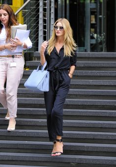 Rosie Huntington-Whiteley in a Belted Jumpsuit