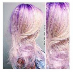 Violet-Rooted Blonde