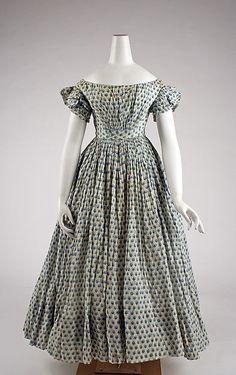 Ensemble (image 5) | American | 1835-1845 | cotton | Metropolitan Museum of Art | Accession #: 1976.208.1a, b