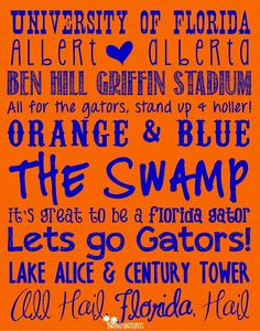 Loooovvvveee this!! Go gators!