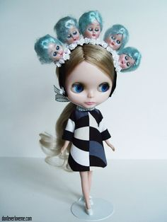 "baby blue ""Blythe Hears Voices"" by Dr.Yatabazah, via Flickr"