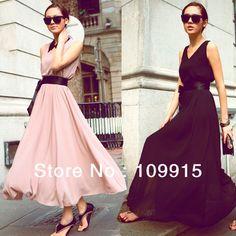 New Women Floor-Length Beach Boho Casual Sundress Evening Chiffon Long Maxi Dress Dropshipping Free HR654 $18.80