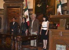 16 Aniversario del día de la democracia en el DF en el Salón de Cabildos del Antiguo Palacio del Ayuntamiento. Foto: Rodolfo González.