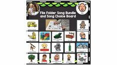 CIRCLE TIME SONG BUNDLE: File folder activity songs that are great for toddlers, preschoolers, early education, and kindergarteners. There are moveable pieces that allow for active participation in the songs and are easily stored in a file folder. A perfect addition to your morning circle. Preschool Lessons, Preschool Kindergarten, Toddler Preschool, Special Education Classroom, Early Education, 5 Little Monkeys, Circle Time Songs, File Folder Activities, School Songs