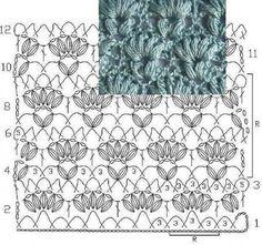Uma seleção de padrões de crochet.