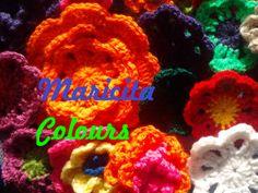 Maricita Colours Crochet Häkeln Tutoriales /Anleitung Flower /Flores / Blumen en YOUTUBE!!