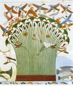 Planche 9 – Fragment prélevé par F. Cailliaud sur une paroi de la tombe de Neferhotep (Gournah), gravure, F. Cailliaud, dans Recherches sur les arts et métiers, les usages de la vie civile et domestique des anciens peuples de l'Égypte, de la Nubie et de l'Éthiopie.