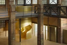 In Barcelona, BAAS arquitectura turns 1920s industrial building into history museum | ICON Magazine Loft Flooring, Museum Architecture, Modern Stairs, Adaptive Reuse, New Museum, History Museum, Concrete Floors, 1920s, Facade
