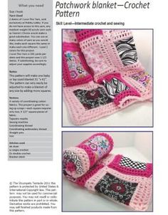 Crochet baby blanket pattern patchwork by TheStrumpetsTentacle by denise.su
