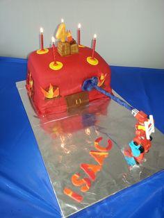 Rescue Bot Heatwave burning building cake