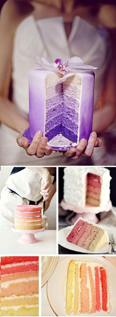 ombre cake layers