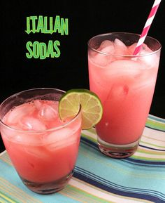 Italian Soda - Ice, flavored syrup like Torani syrups, Club Soda or sparkling water (flavors optional) & Half & Half