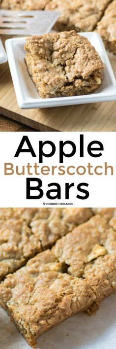 Apple Butterscotch Bars by Noshing With The Nolands is a treat you can enjoy year round. They are a perfect addition to the lunchbox too!