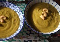 Crema de calabacín y calabaza al garam masala