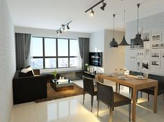 Interior Designer: Rezt n Relax Interior Cost: $20,000 Choosing to go with a dark colour scheme for the walls and furniture, this flat epitomises what a bachelor pad would look like. It channels a no-nonsense, professional vibe.